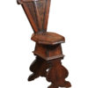 17th Century Italian Walnut Hall Chair
