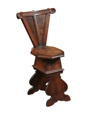 17th Century Italian Walnut Hall Chair