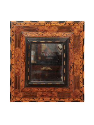 17th Century Marquetry Inlaid Mirror