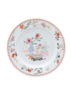 18th Century Famille Verte Plate