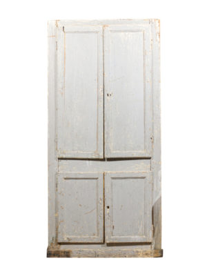 19th Century French Blue Painted Cabinet