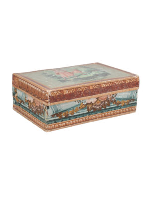 19th Century French Painted Paper Mache Box