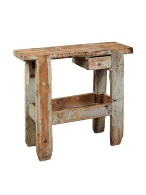 19th Century French Painted Workbench