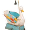 19th Century Painted Swan Seat