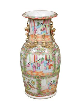 Chinese Export Rose Medallion Vase