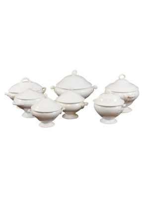 Collection French Creamware Style Tureens