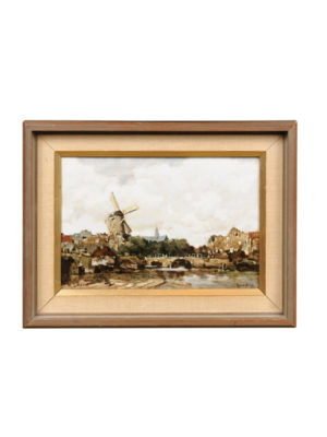 Early 20th Century Dutch Landscape Painting on Porcelain