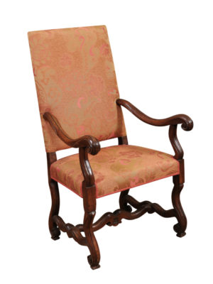 Italian Louis XIV Walnut Armchair