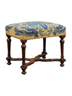Louis XIV Style Oak Stool