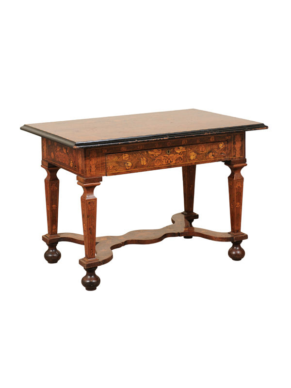 Marquetry Inlaid Rectangular Center Table
