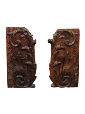 Pair 18th Century French Architectural Carvings