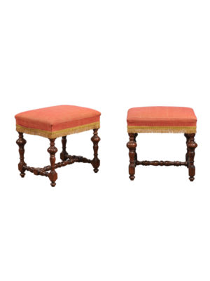 Pair 18th Century Turned Leg Benches