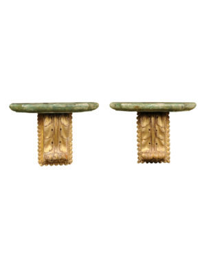 Pair 19th Century Italian Giltwood Wall Brackets