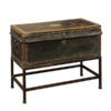 Regency Leather Trunk on Stand