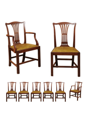 Set of English Mahogany Dining Chairs