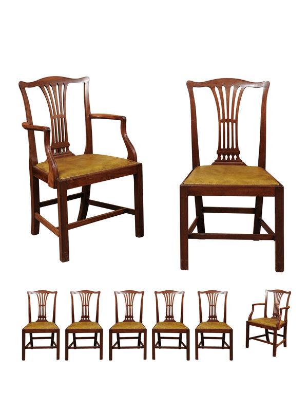 Set of English Mahogany Dining Chairs