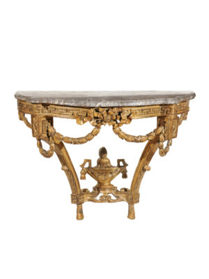 18th Century French Giltwood Console with Marble Top