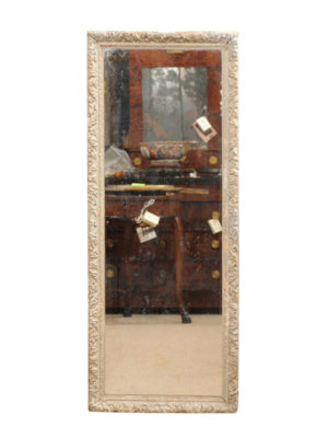 19th Century French Green Painted Mirror