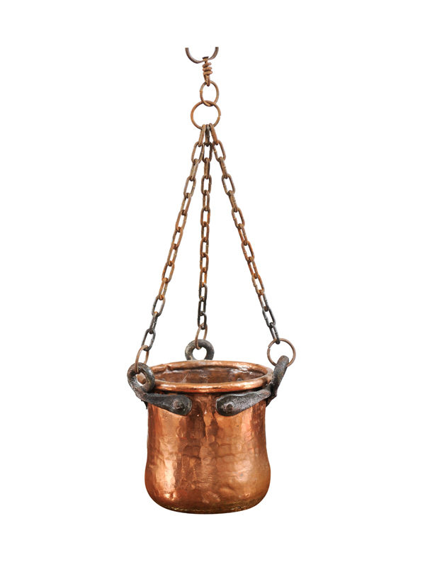 Copper Hanging Pot
