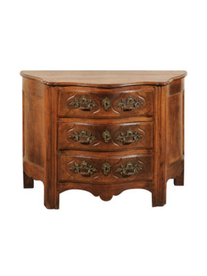 Louis XV Serpentine Oak Commode