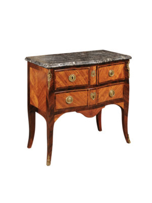 Louis XV Tulipwood Commode with Bronze Dore Mounts
