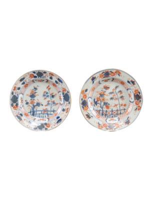 Pair Chinese Export Imari Plates