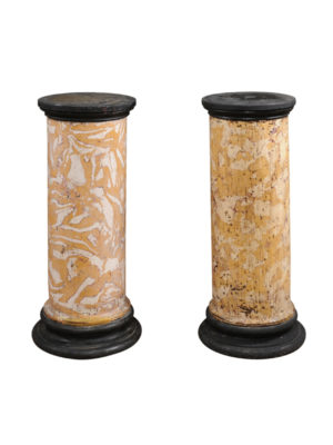 Pair Marbleized Columns