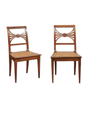 Pair Side Chairs with Cane Seats