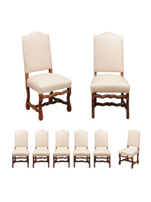 Set of 8 Mutton Bone Dining Chairs in Oak