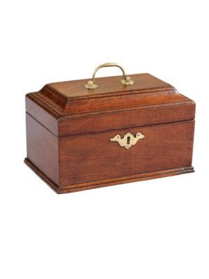 18th Century English Mahogany Tea Caddy