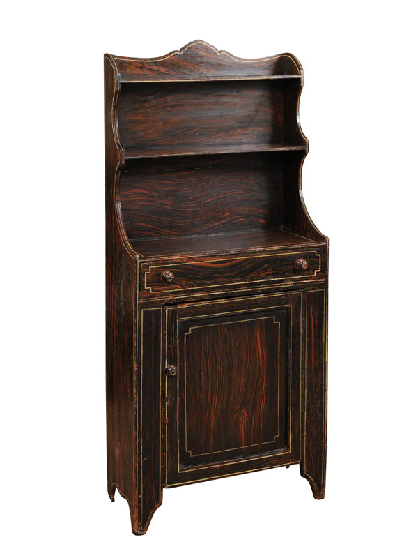 19th Century English Black Painted Bookcase