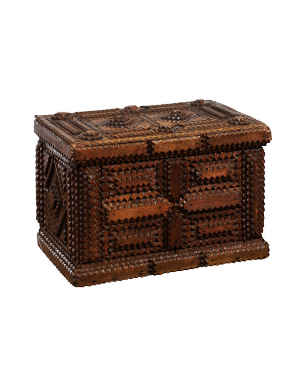 19th Century French Tramp Art Box