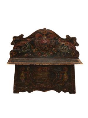 19th Century Italian Black Painted Bench