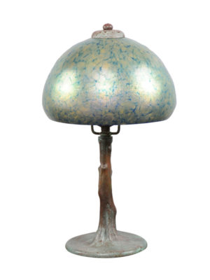Bronze Table Lamp with Dome Shade