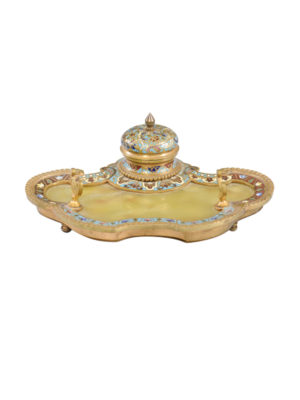 Cloisonne Inkwell
