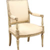 Directoire Green Painted Armchair
