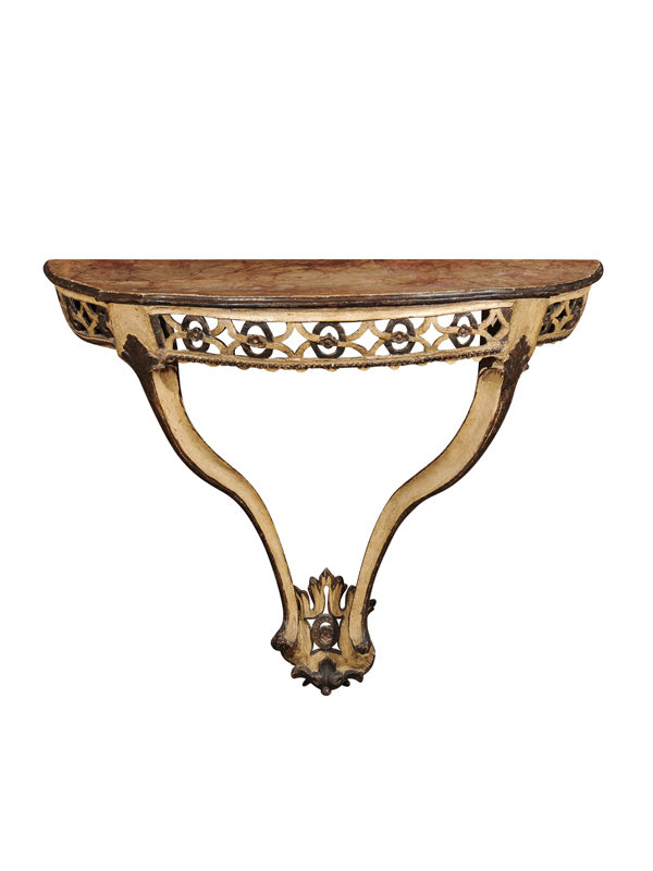 Italian Painted Wall Mount Console