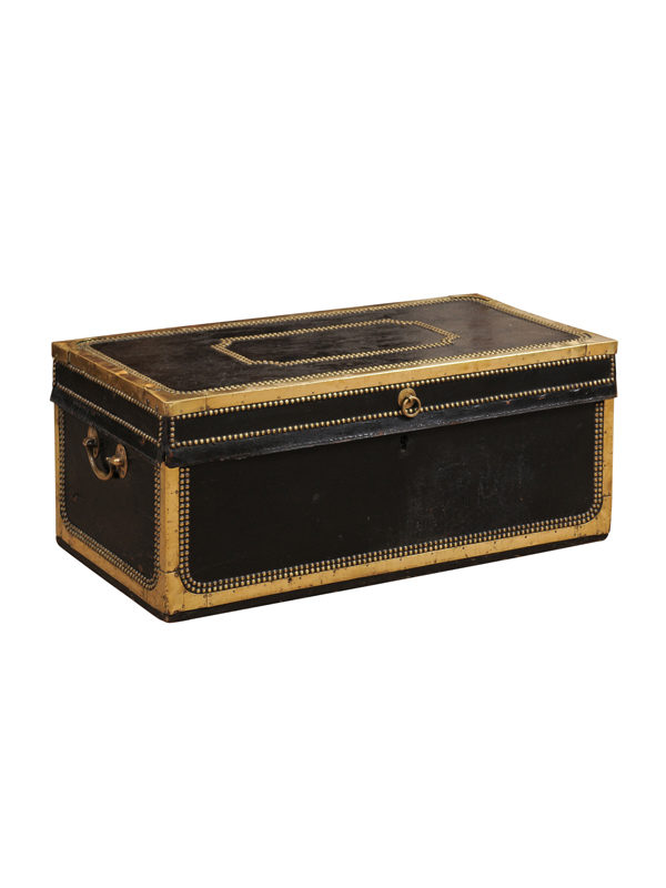 Leather & Brass Studded Trunk