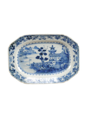 18th Century Chinese Blue & White Platter