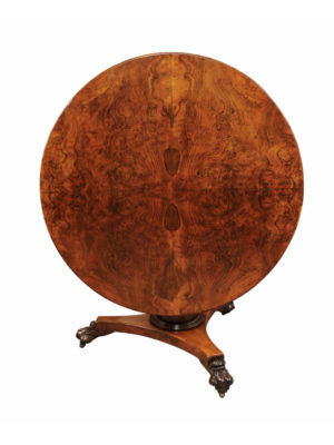 19th Century Burled Walnut Center Table