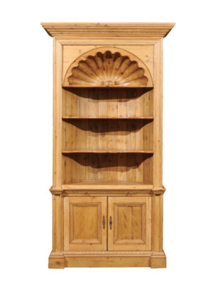 English Pine Open Shelf Bookcase