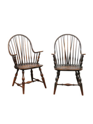 Pair Windsor Armchairs