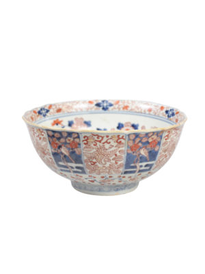19th Century Chinese Export Imari Salad Bowl