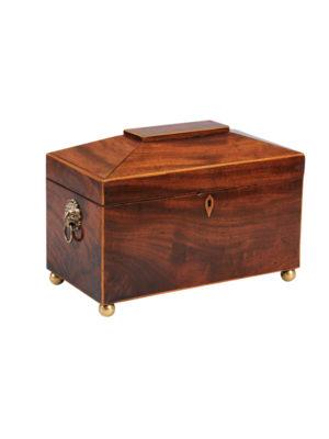 19th Century English Mahogany Tea Caddy
