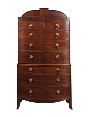 Early 19th Century English Mahogany Chest on Chest