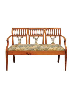 Italian Neoclassical Settee with Pierced Backsplat