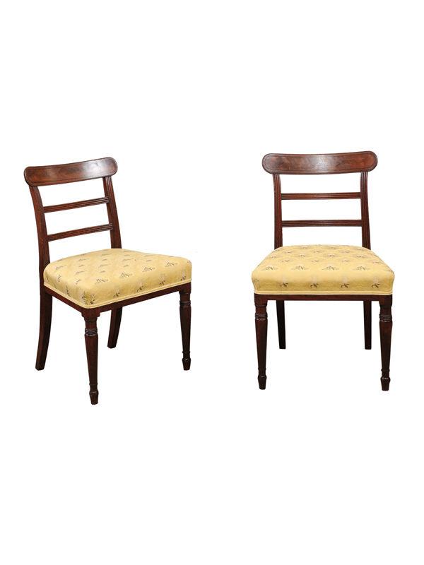 Pair Regency Mahogany Side Chairs