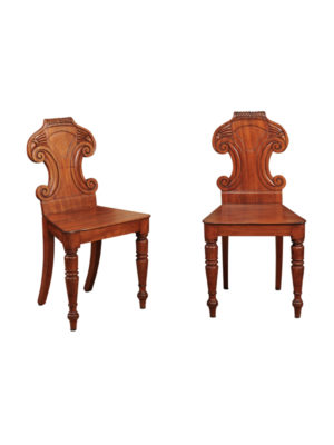 Pair Regency Period Hall Chairs