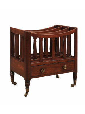 19th Century English Mahogany Magazine Rack