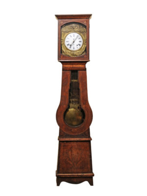 19th Century French Painted Tallcase Clock